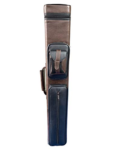 Gator 2020 New Champion Instroke Leather Cue Cases 4x6 Holds 4 Butts and 6 shafts Pool cue (I-62605A Brown and Black)