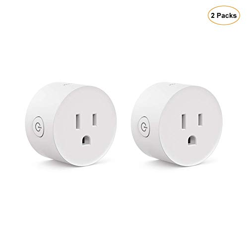 Koogeek Smart Plug,Mini Outlet WiFi Socket Compatible with Alexa,Google Home and IFTTT,Remote and Voice Control,Timer Function,No Hub Required 2 Packs