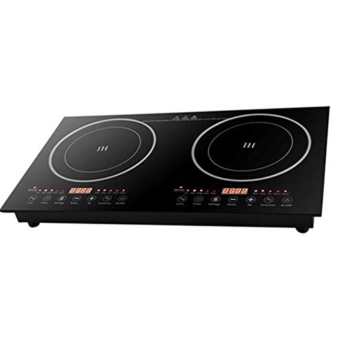 Double Induction Cooktop Cooker 2400W Digital Electric Countertop Burner Touch Sensor Control Stove Dual Hot Plate 8 Gear Firepower 110V