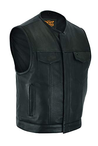 Milwaukee Riders Low Cut - Mens Leather Motorcycle Club Vest