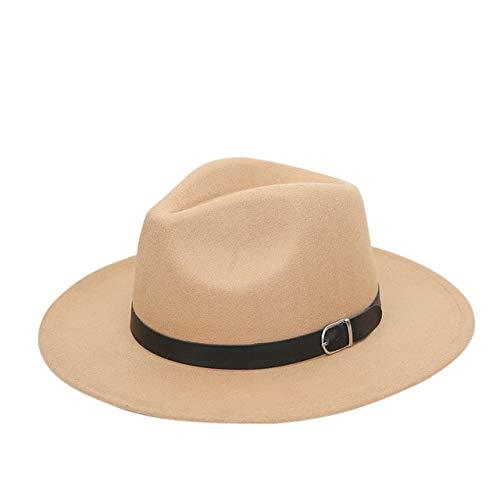 Mdsfe Vrouwen Mannen Mode kerken strohoed Gentleman Derby Retro brede rand Panama Retro 1920 Hoed k3700 kaki 1-A3700