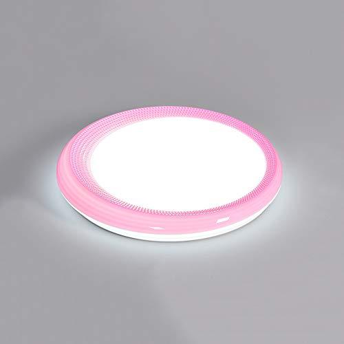 GUOGUOSM Luz De Techo Para Dormitorio Simple Y Ultradelgada LED Integrada Redonda Luz De Estudio Moderna Y Simple Luz De Pasillo De Balcón Luz De Techo De Restaurante Ajustable (Rosa)