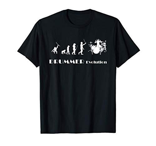 Trommler Schlagzeuger Drums Schlagzeug - Evolution Drummer T-Shirt