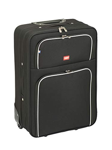 Princess Traveller Barcelona Soft Luggage Traveller Laptop rolkoffer, 69 liter, zwart