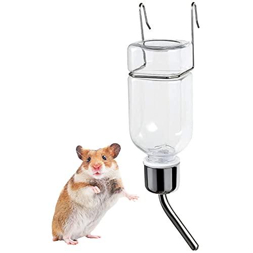 小 動物 用 給水 器 水 ボトル 180 Ml 吊り下げ ケージ 内装 フック 付き ハムスター 鳥 爬虫 類 便利 取り付け 簡単 品