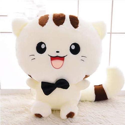 XXCKA Weiß Lachen Nette Katze Puppe Plüschtier Puppe Super Nettes Schlafkissen Puppe Geburtstagsgeschenk 130 cm