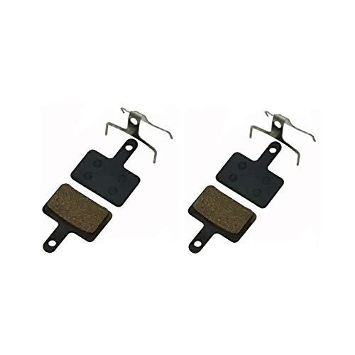 2 pares de pastillas de freno para disco bicicleta SHIMANO M355 M375 M395 M415 M416 M445 M446 M447 M475 M495 M515 M535 Semi-accesorios metálicos