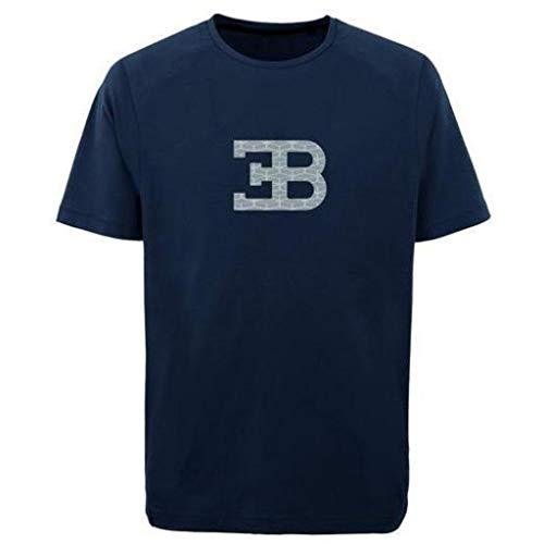 BUGATTI Herren T-Shirt EB Blau/Weiß (2XL, Blau)