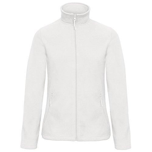 B&C Damen Women's Id.501 Fleece Pullover, Weiß (White 000), 40 (Herstellergröße: Medium)