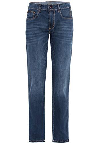 Camel Active Herren 5-Pocket Houston Straight Jeans, Blau (Mid Blue 80), W36/L32 (Herstellergröße: 36/32)