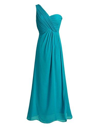 Freebily Vestido Largo de Gasa para Mujer Dama de Honor Vestido de Cóctel Fiesta Ceremonia Noche, Azul, 38