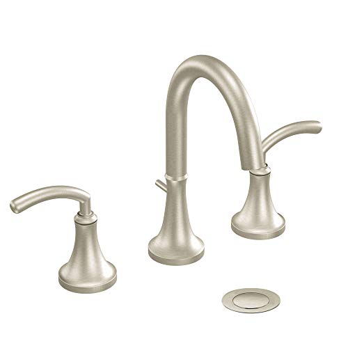 Moen TS6520BN Icon Two-Handle High Arc Bathroom Faucet without Valve, Brushed Nickel