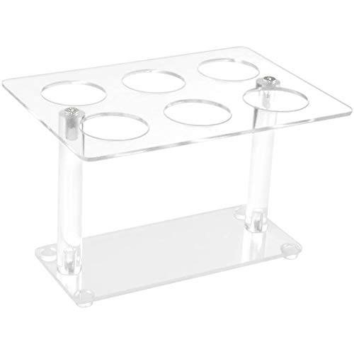 AILELAN Cone Holder, Clear Acrylic Ice Cream Cone, Sushi Hand roll Stand Holder, 6 Holes
