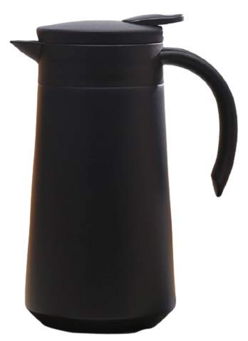 Termo de Acero Inoxidable portátil con Mango Termo Tipo Jarra Taza de café con Aislamiento térmico (Negro)