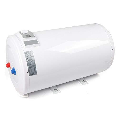 80L Elektro Warmwasserspeicher Warmwasserkessel 30-75 ℃ 2KW Boiler mit LED-Temperaturanzeige und Zubehör