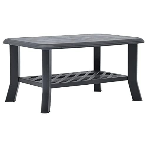 vidaXL Tavolino da Caffè Antracite 90x60x46 cm in Plastica