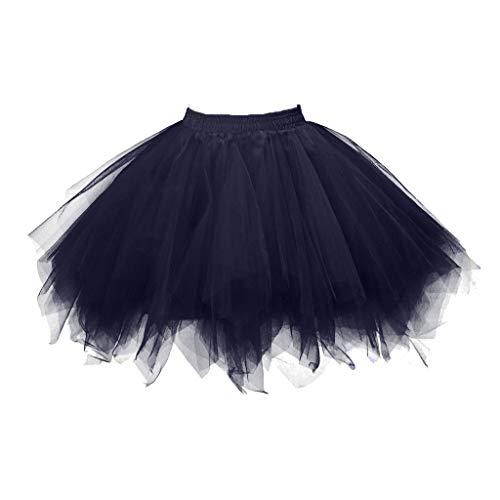 FRAUIT Vintage tulerok voor dames, 50 stuks, meerkleurig, bubbel, dansjurk, rok, mesh, swing, rijfrock, puff, rok, plissé, lange rok, prinses, casual, feestelijk, carnaval, party, rok