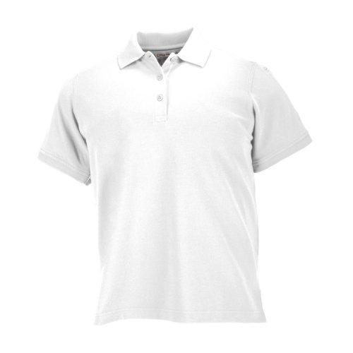 5.11 Polo Tactique à Manches Courtes Professionnel pour Femme, 100% Coton piqué Style 61166 S Blanc