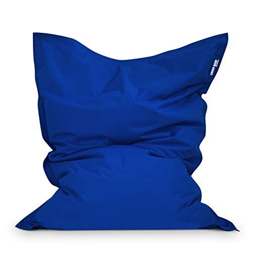 Green Bean Outdoor © Square XL Garten Sitzsack 120x160 cm - 270 Liter EPS Perlen Füllung - waschbarer Bezug, mit Innensack - Terrasse Lounge, Balkon Bean Bag Chair - Kinder & Erwachsene - Blau