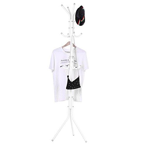 AYNEFY Standing Coat Rack, Multi-Hook Metal Coat Hat Rack Tree Entry-Way Stand...