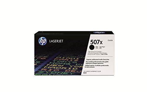 HP 507X CE400X Negro, Cartucho Tóner de Alta Capacidad Original, de 11.000 páginas, para impresoras HP LaserJet Enterprise 500 Color serie MFP 551, 575 y LaserJet Pro 500 Color MFP serie 570