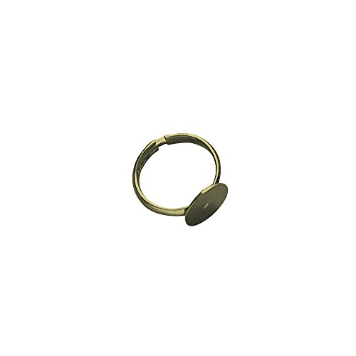 Rayher 2228606 Ring Rail with Plate 12 mm Diameter Pack of 2 Gold