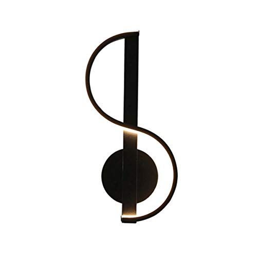 LED Lámpara De Pared Estilo Nota Musical Diseño Creativo Apliques De Pared Metal Luz De Noche Decorativa Para Dormitorio, Sala De Estar, Pasillo, Hotel,White light