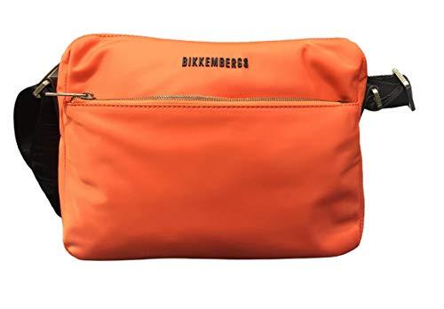Bikkembergs Bolso de hombre tejido E1Q017 color coral 30,5 x 22,5 x 10 bolso de hombre casual colección 2021