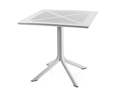 Best Ohio quadratisch 80x80 cm, weiß Tisch, 80 x 80 x 75 cm
