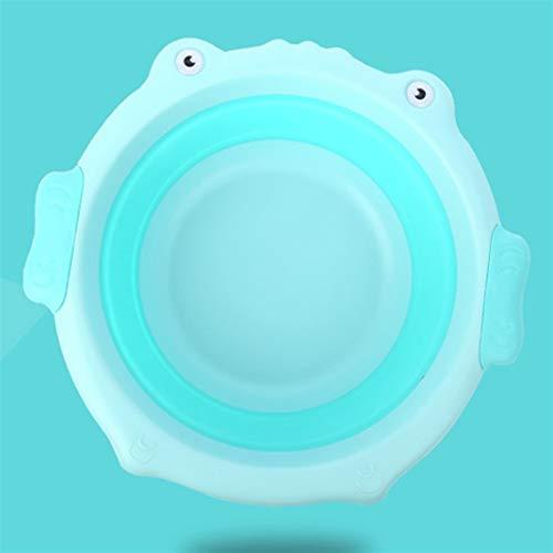 GuanXian Bañera portátil plegable para bebés con diseño de dibujos animados para bebés y niños (color: verde)