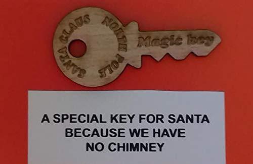 Dazzle Glitter Tattoos 20 x Santa's Magic Key + Free Santa Lost Button & Reindeer tag Rudolph Christmas Eve Wholesale