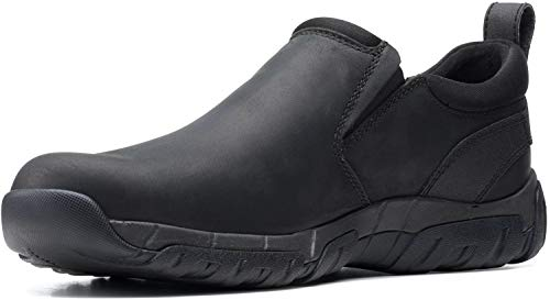 Clarks Grove Step Zapatilla de deporte para hombre, negro (Cuero negro), 40 EU