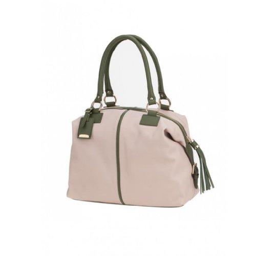 Ismachseven Manuela Handbag -Light pink with green