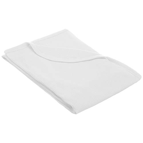 TL Care 100% Cotton Swaddle/Thermal Blanket, White