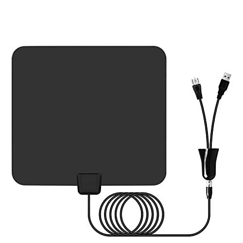 Amplified HD Digital TV Antenna up to 95 Miles Range - Indoor HDTV antenna with...