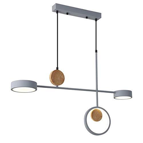 DGPOAD Led Kronleuchter Nordic Grey Kronleuchter Beleuchtung für Esszimmer Wohnzimmer Dekoration Minimalistische Holzküche, kaltes Weiß, a