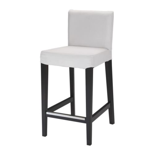 IKEA Henriksdal Gobo Bar Stool Brown/Black White