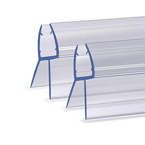 NASHONE Duschdichtung Wasserabweisende Dichtung für Duschkabinen Für 6-8 mm gerades Glas mit einem maximalen Spalt von 20 mm (2X100CM)