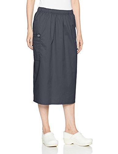 WonderWink Women's Wonderwork Pull-on Cargo Scrub Skirt, Pewter, Medium