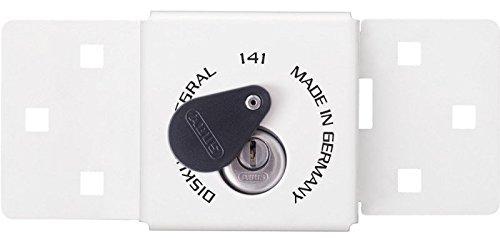 ABUS 538278 538278-141/200+25/70 Cierre Universal Con candado Diskus Llave Puntos integrado Blanco, Blanc