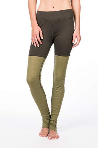 super.natural Damen Yoga-Hose, Mit Merinowolle, W MOTION HEAP TIGHTS, Größe: S, Farbe: Khaki/Beige
