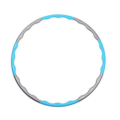 GAKIN 1 x Hula-Hoop-Reifen mit Gewichten, flacher Bauch, abnehmbar, für Sportgeräte