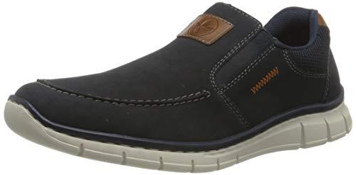 Rieker Herren B7756 Sneaker, Pazifik/Amaretto/Navy 15, 44 EU