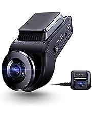 VANTRUE S1 Dual Dashcam Auto 1080P, 2880x 2160P voor, Sony sterrenlicht nachtzicht, GPS, 24 uur parkeermodus autocamera, G-sensor, supercondensator, 60 fps front 1080P Dash Cam, 2 inch 330°, max 256GB