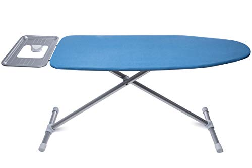 TIVIT Ironing Board with Pad & Cover - Newport 16 x 47 - Heavy Duty Metal Mesh Top, Adjustable Height, Attached Iron Rest, Sturdy Steel Legs & Safety Lock System - Made in Italy