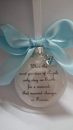 Baby Boy Memorial Ornament Most Precious of Angels with Charm In Memory of Infant Loss Sympathy Gift
