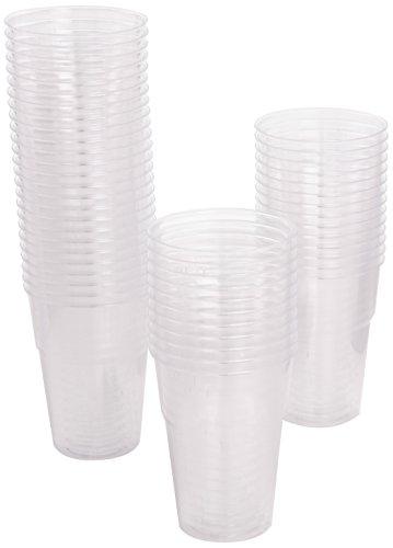 Dopla bicchieri diamante 200cc trasparenti - 2 confezioni da 50 pezzi [100 pezzi]