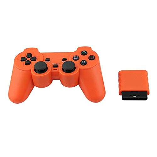 XIWAN for Sony PS2 Wireless Controller Gamepad Bluetooth for Play Station 2 Manette de Jeu Console for Dualshock 2 Couleur Transparent (Color : B)