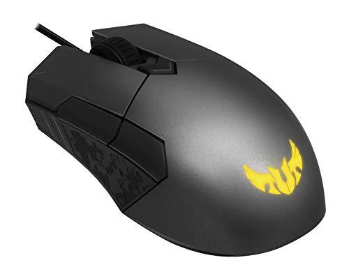 ASUS TUF M5 Mouse Gaming Ottico, 6200 DPI, Design Ergonomico ambidestro, Aura Sync RGB, Interruttori Omron