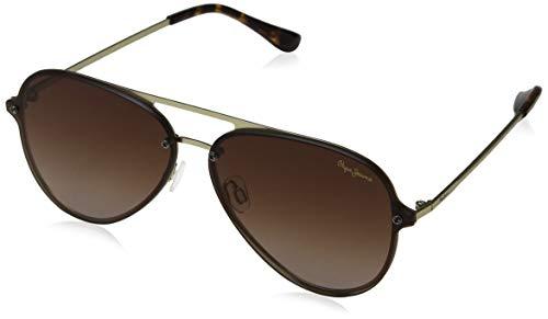 Pepe Jeans Milo Gafas de sol, Dorado (Gold/Brown), 65.0 Unisex Adulto